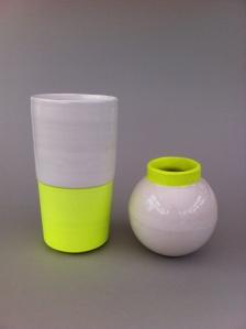 Beaker vase and mini lunar jar