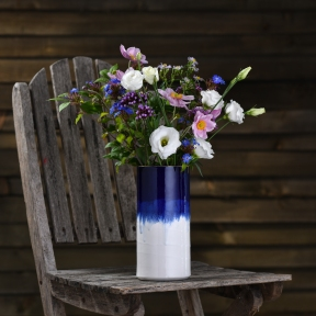 Tall vase £85, size 22x10 cm (hxw at top)